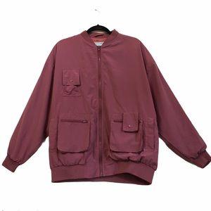 Izod club vintage women's bomber jacket mauve